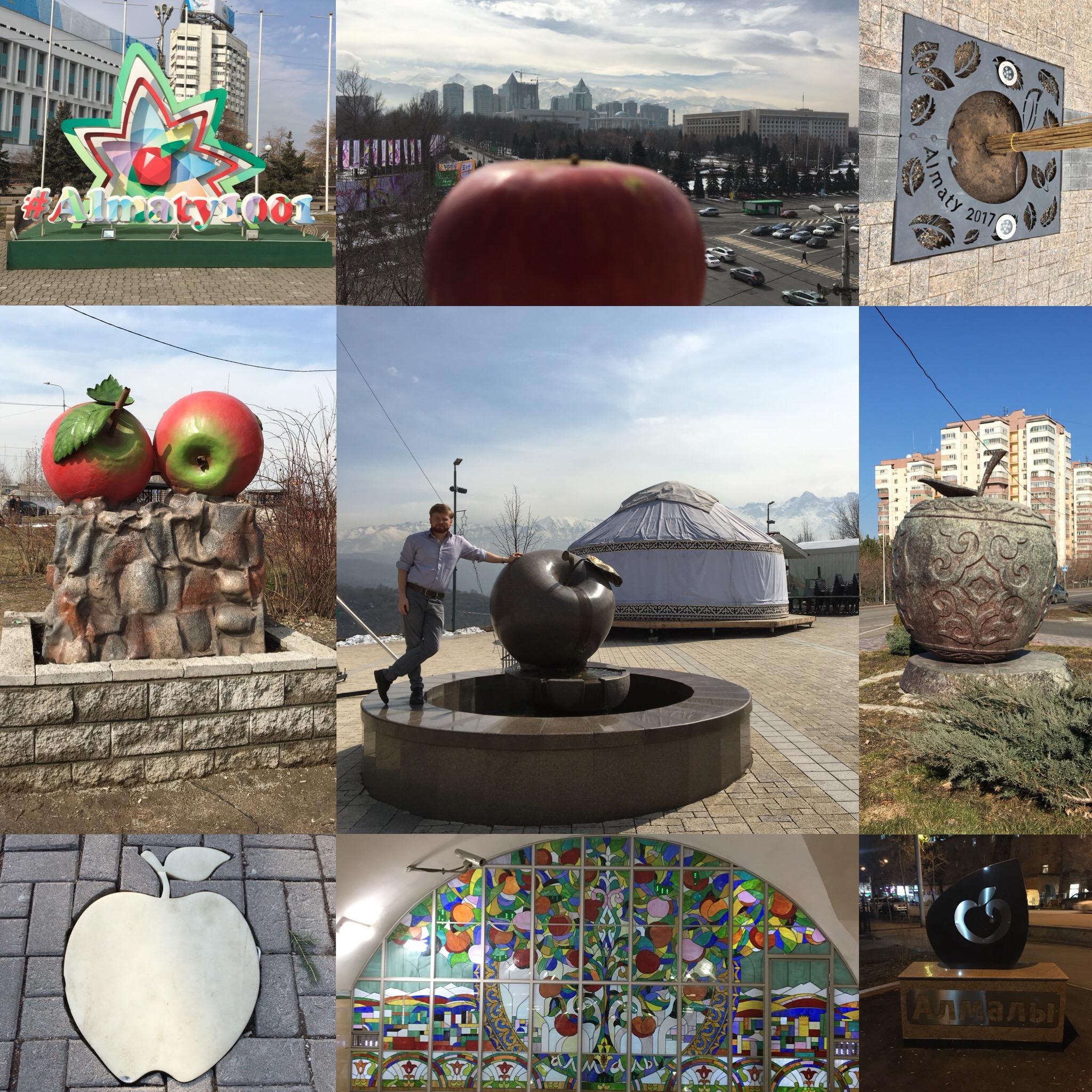 Der Apfel als Symbol der Stadt.